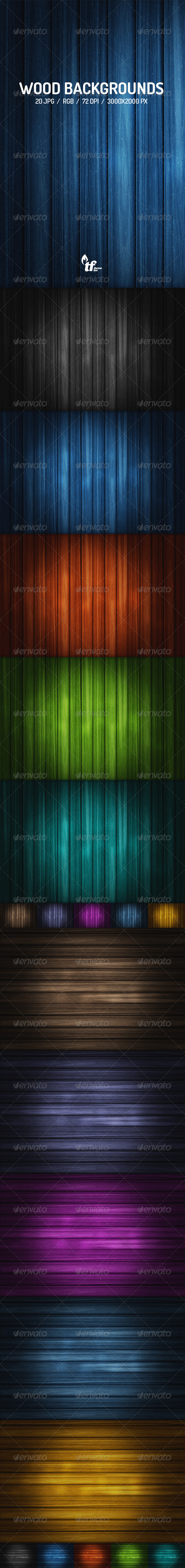 GraphicRiver 20 Wood Backgrounds 7790683