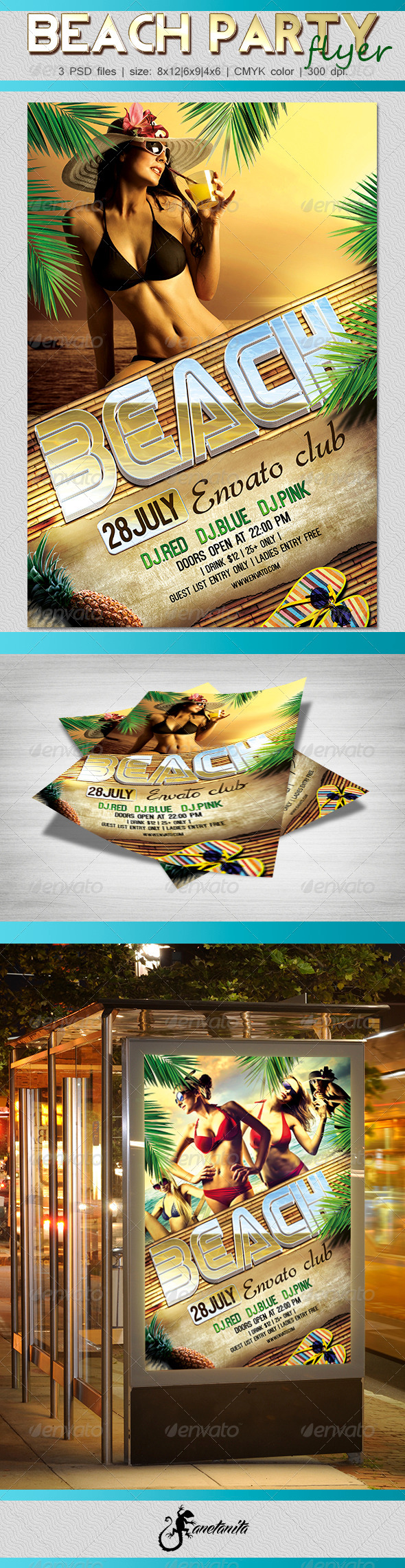 GraphicRiver Beach Party Flyer 7724261