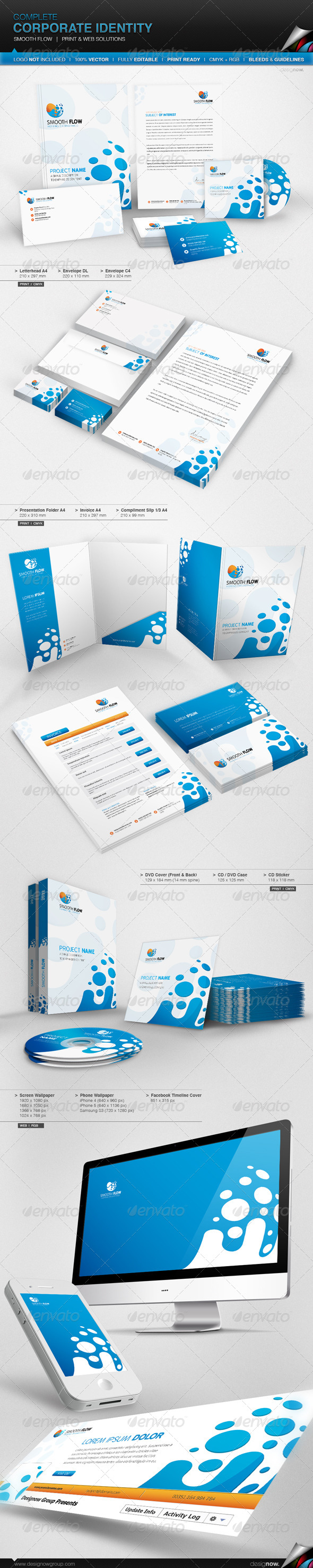 Corporate Identity - Smooth Flow - Stationery Print Templates