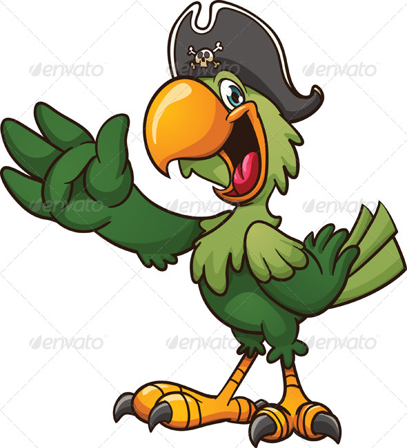 GraphicRiver Pirate Parrot 7790964