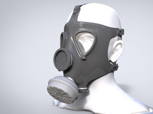 Gas mask M15 - 3DOcean Item for Sale