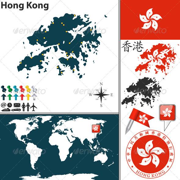 GraphicRiver Map of Hong Kong 7791141