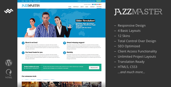 JazzMaster - Responsive Business WordPress Theme