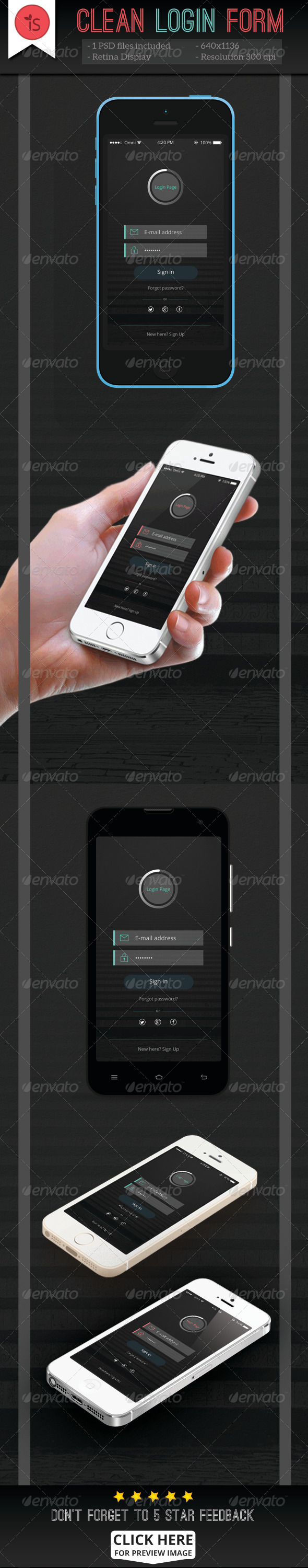 GraphicRiver Clean Login Form 7791184