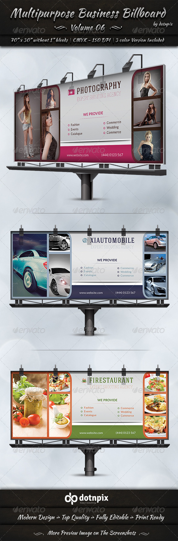 GraphicRiver Multipurpose Business Billboard Volume 6 7791243