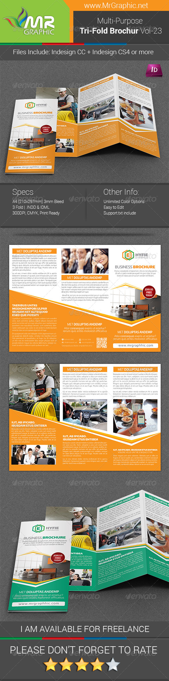 GraphicRiver Multipurpose Business Tri-Fold Brochure Vol-23 7791418