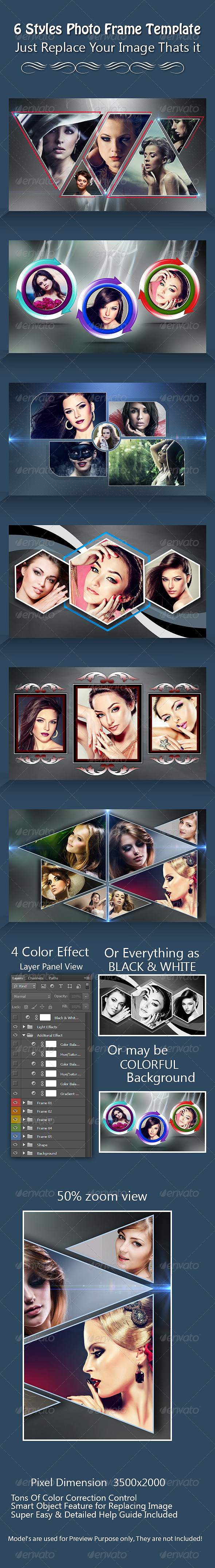 GraphicRiver 6 Styles Photo Frame Template 7791607