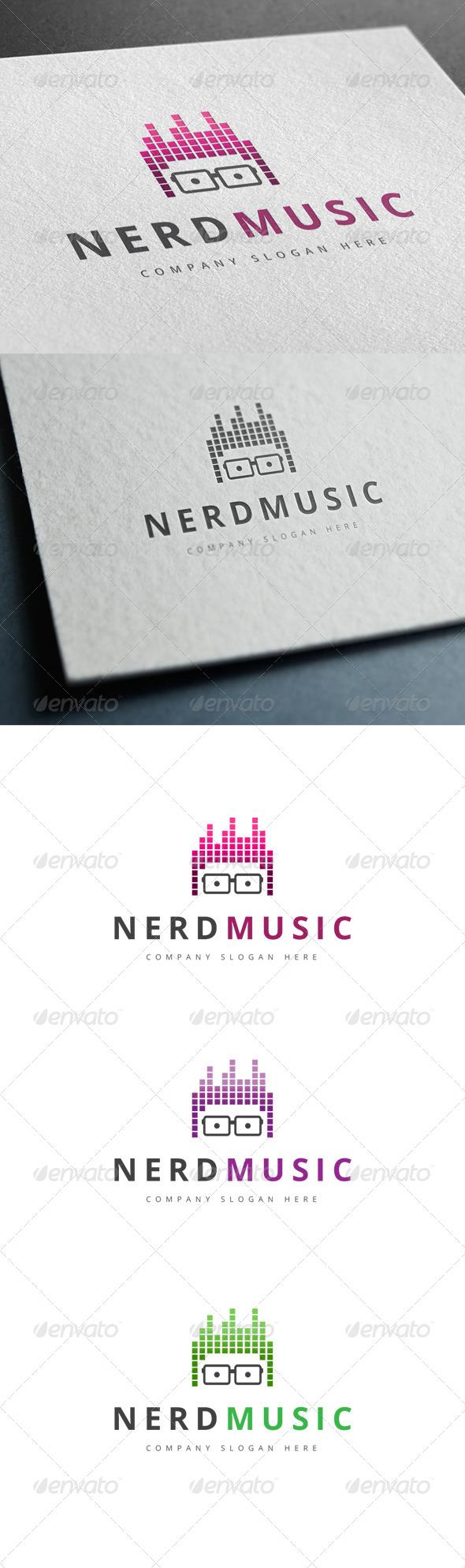 GraphicRiver Nerd Music Logo 7791760