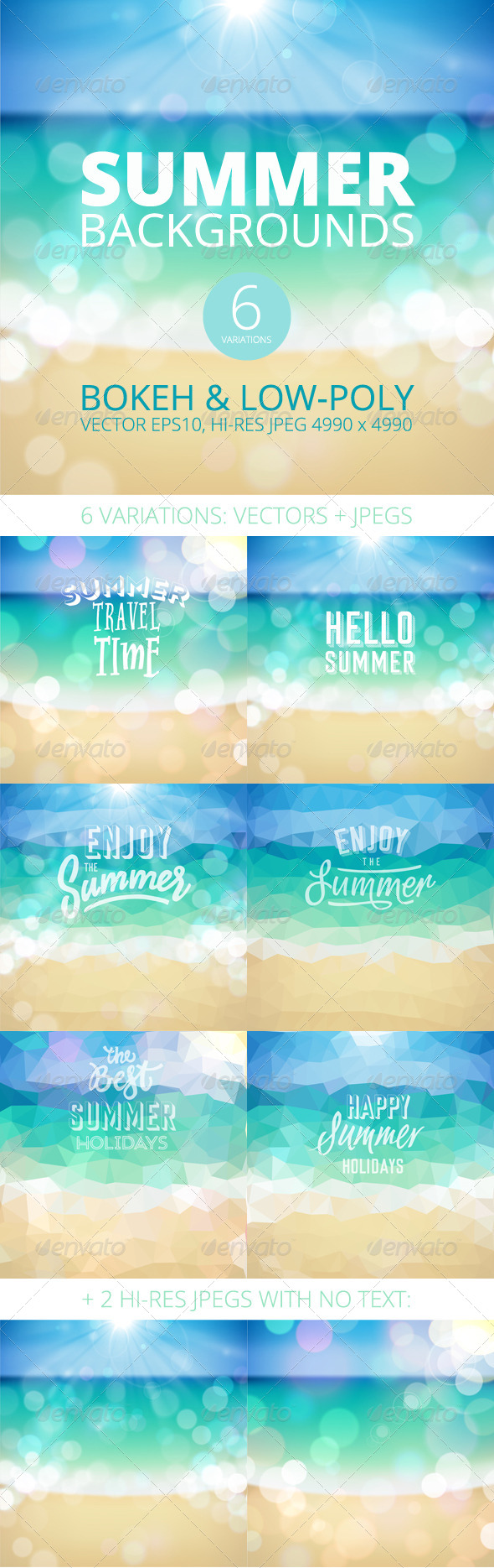 GraphicRiver Summer Holiday Tropical Beach Background 7791769
