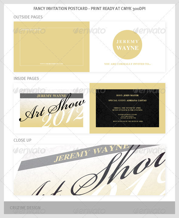 Fancy Invitation Postcard - Invitations Cards & Invites