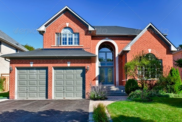 Detached suburban home - Stock Photo - Images