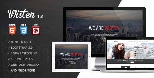 ThemeForest Wisten Wordpress One Page Parallax Theme 7591503