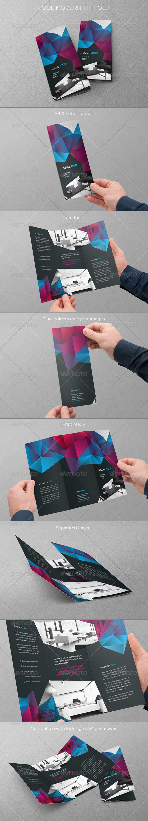 GraphicRiver Cool Modern Trifold 7791782