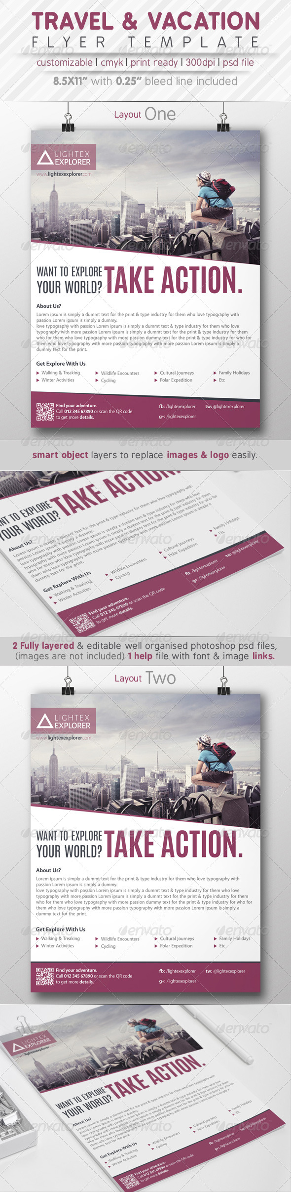 GraphicRiver Travel & Vacation Flyer Ads 7773871