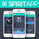 SpiritApp - Flat Mobile Design UI Kit - GraphicRiver Item for Sale