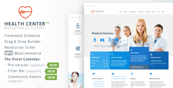 Health Center - Responsive Medical Theme - Health & Beauty Retail