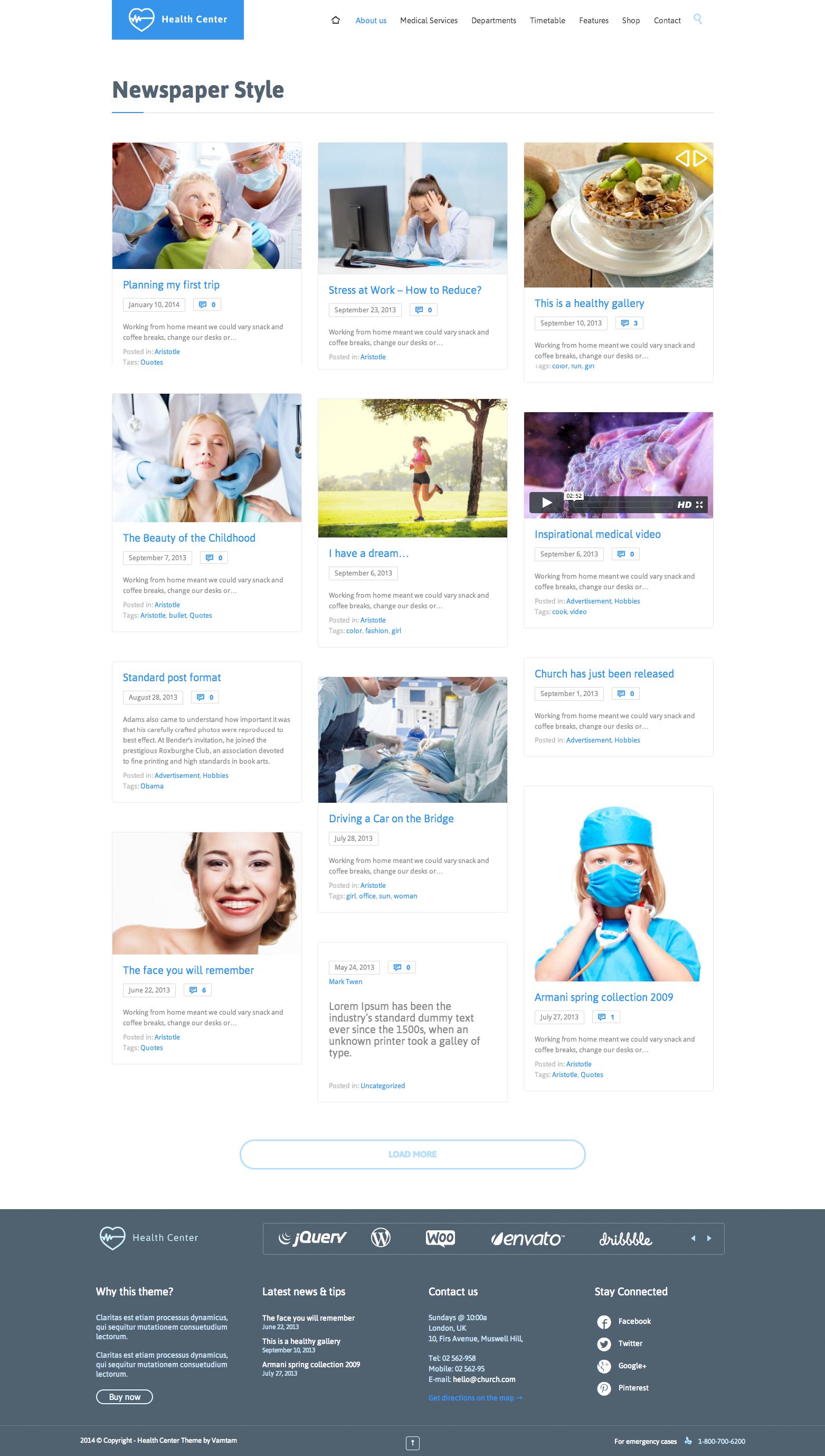Health Medical Center - Responsive Theme