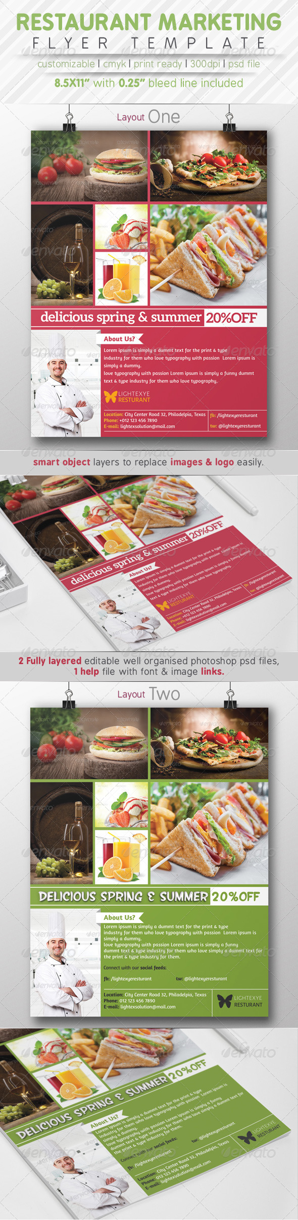 GraphicRiver Restaurant Marketting Flyer Ads 7773853