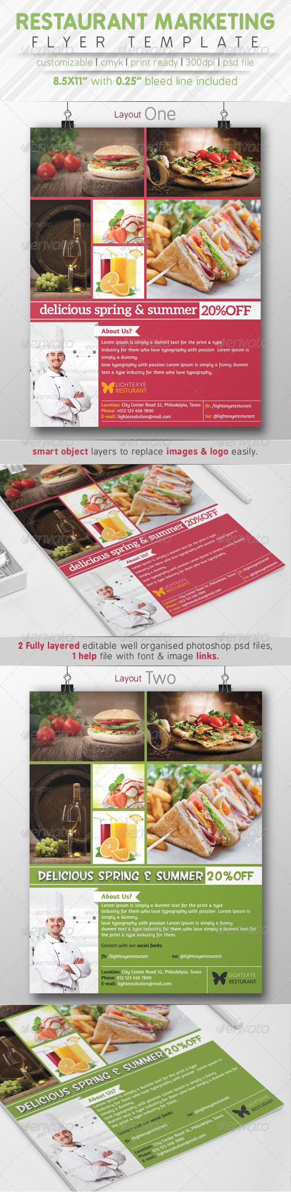 Restaurant Marketting Flyer Ads