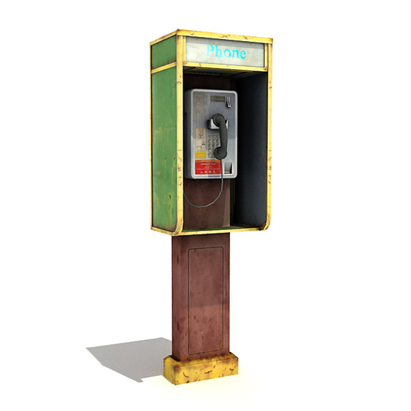 3DOcean Small Phone Booth 7791985