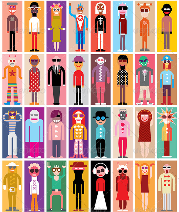 GraphicRiver People Icons 7792003