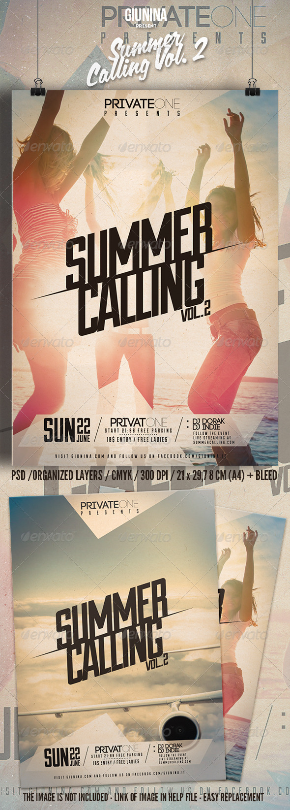 GraphicRiver Summer Calling Vol 2 Flyer Poster 7776918