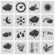 Vector Black  Weather Icons Set - GraphicRiver Item for Sale