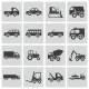 Vector Black Vehicle Icons Set - GraphicRiver Item for Sale