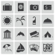 Vector Black Travel Icons Set - GraphicRiver Item for Sale