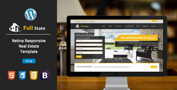 ThemeForest Full state Real Estate Retina Wordpress Theme 7605942