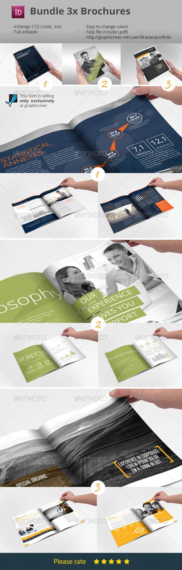 GraphicRiver 3x Business Brochures Bundle 7792209