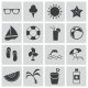 Vector Black Summer Icons Set - GraphicRiver Item for Sale