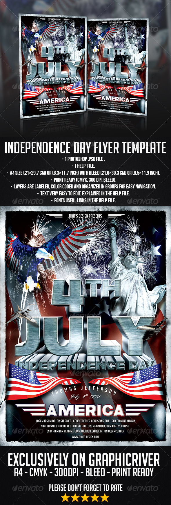 GraphicRiver July 4 Independence Day Flyer Template 7792462
