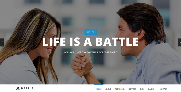 ThemeForest Battle Responsive Multi-Purpose WordPress Theme 7792551