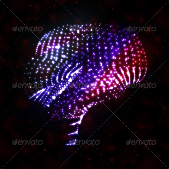 GraphicRiver Neon Brain Abstract Illustration 7793081