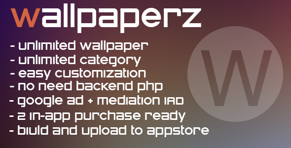 CodeCanyon WallpaperZ multicategory app & in-app 7793189