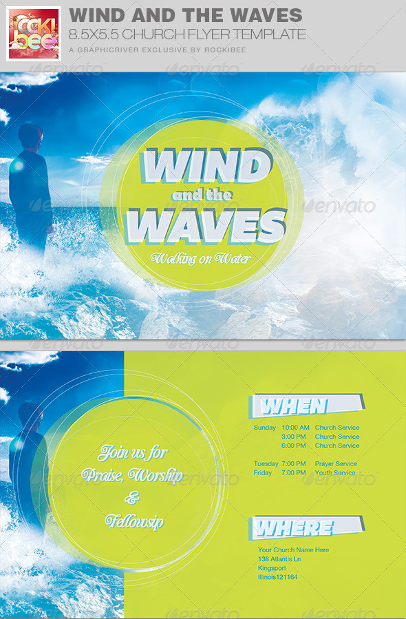 GraphicRiver Wind and the Waves Church Flyer Invite Template 7793245