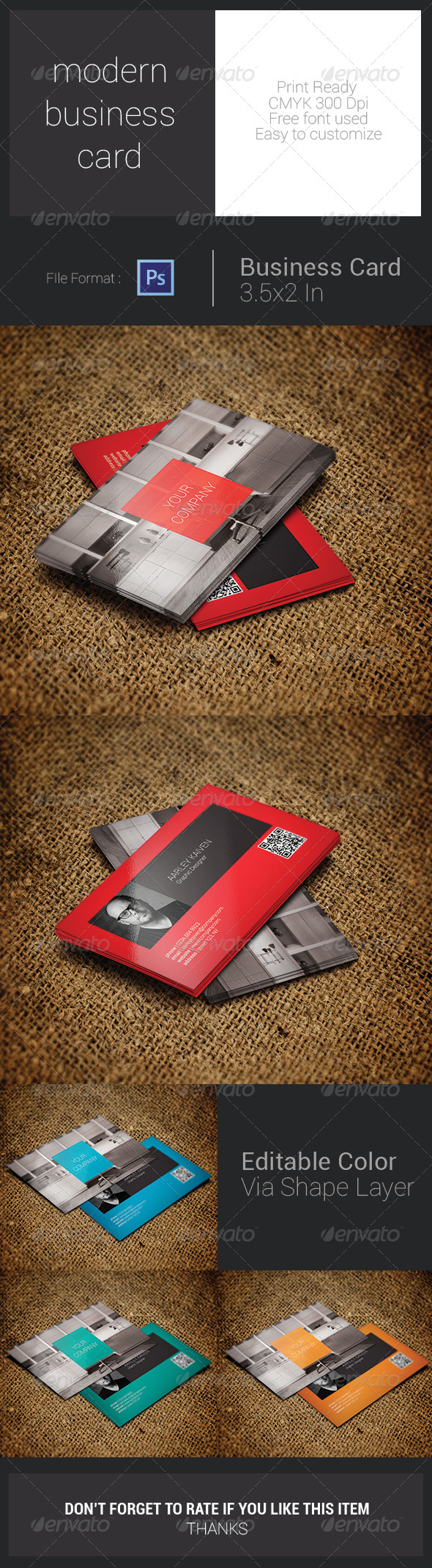 GraphicRiver Modern Business Card 7793300