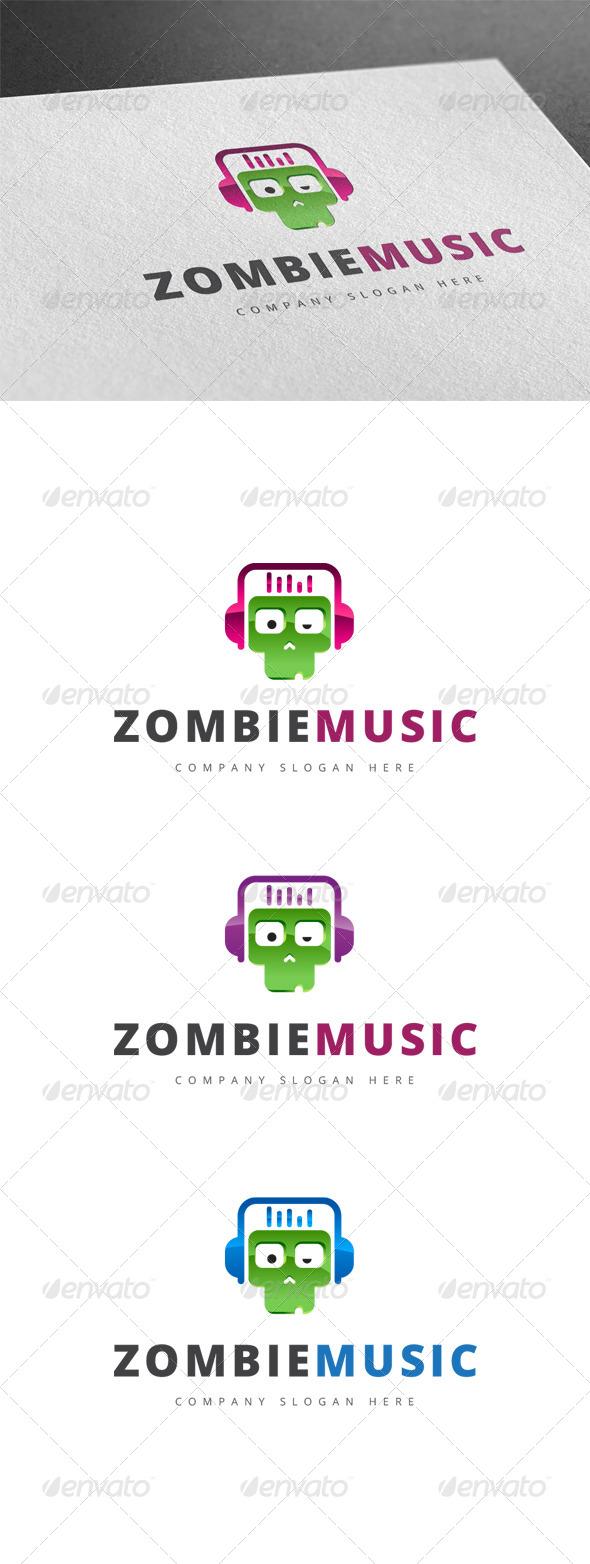 GraphicRiver Zombie Music Logo 7793321