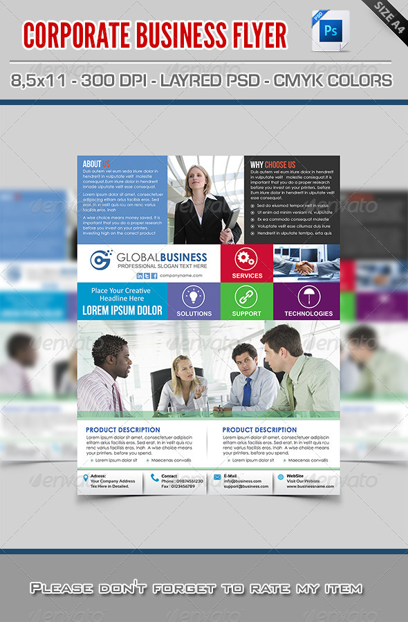 GraphicRiver Corporate Business Flyer 7793326