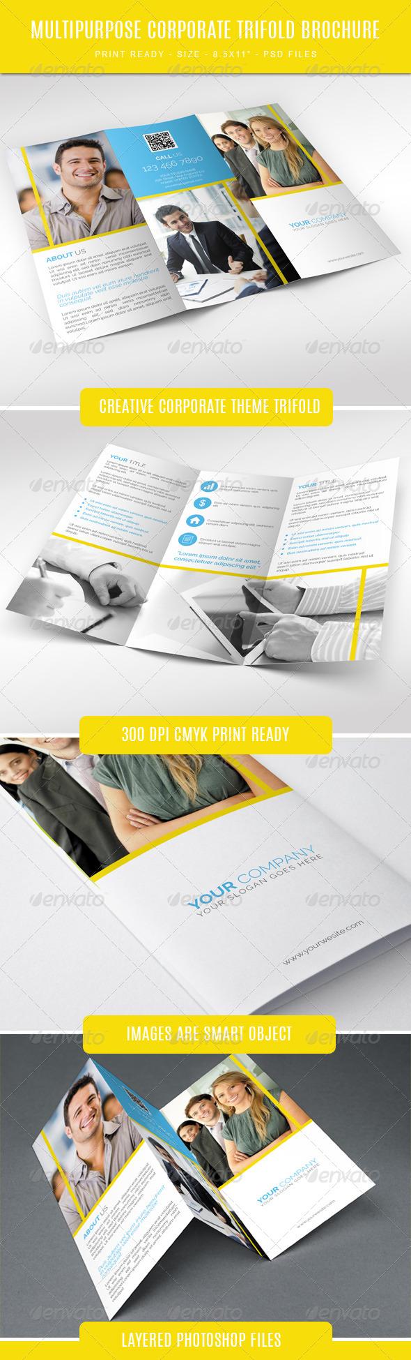 GraphicRiver Creative Corporate Tri-Fold Brochure 7793476