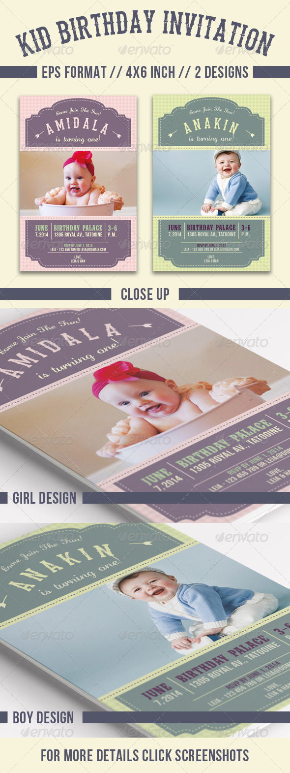 GraphicRiver Kid Birthday Invitation 7794285