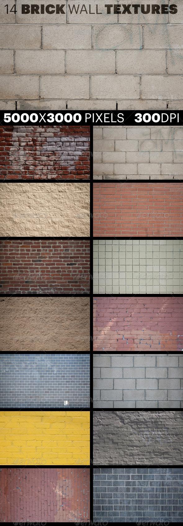 14 Brick Wall Textures