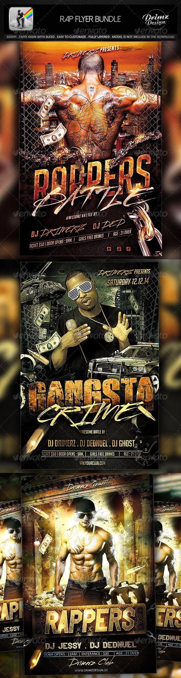 GraphicRiver Rap Flyer Bundle 7794678
