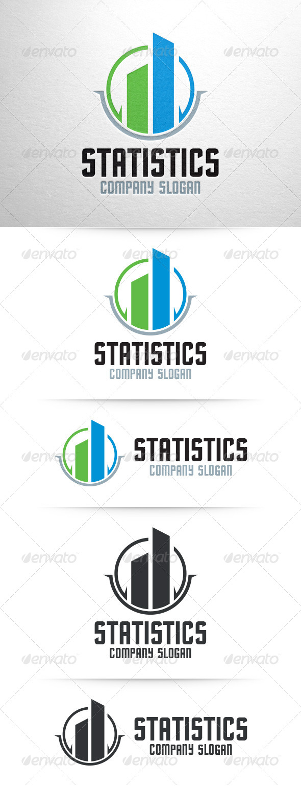 GraphicRiver Statistics Logo Template 7794680