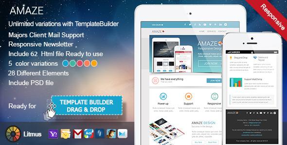 ThemeForest Amaze Responsive Email & TemplateBuilder 7740683