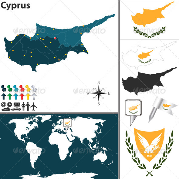 GraphicRiver Map of Cyprus 7794706