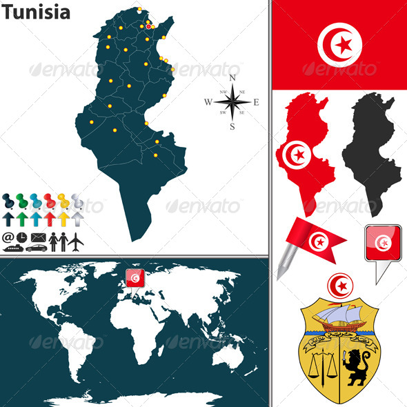 GraphicRiver Map of Tunisia 7794711