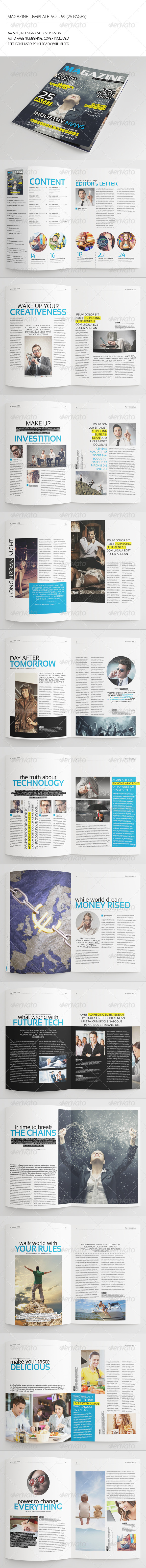 GraphicRiver 25 Pages Universal Magazine Vol59 7795123