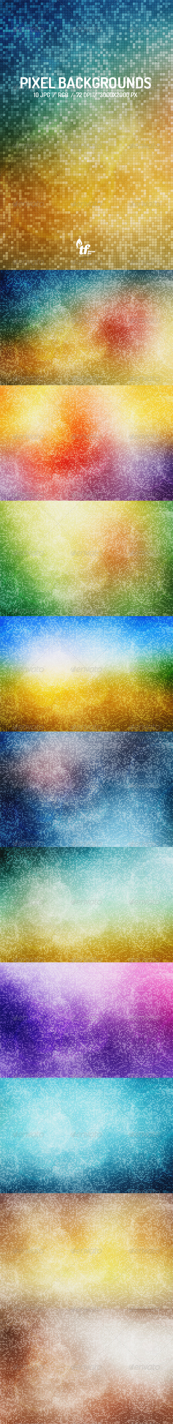 GraphicRiver 10 Pixel Backgrounds 7795131
